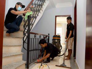 dịch vụ vệ sinh tòa nhà sau xây dựng