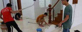 vệ sinh chung cư căn hộ sau xây dựng